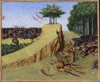 Mort de Roland dans les Chroniques de Saint-Denis