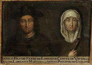 53. René II, duc de Lorraine, et son épouse Philippe de Gueldre.jpg