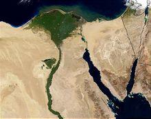 La delta du Nil vu de l'espace