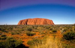 CSIRO ScienceImage 4247 Ayers RockUluru in central Australian desert Northern Territory 1992.jpg